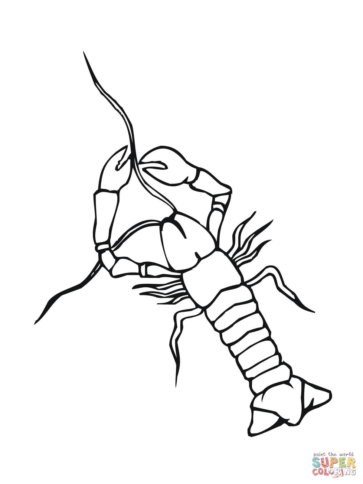Crawfish Coloring Page Free Printable Coloring Pages