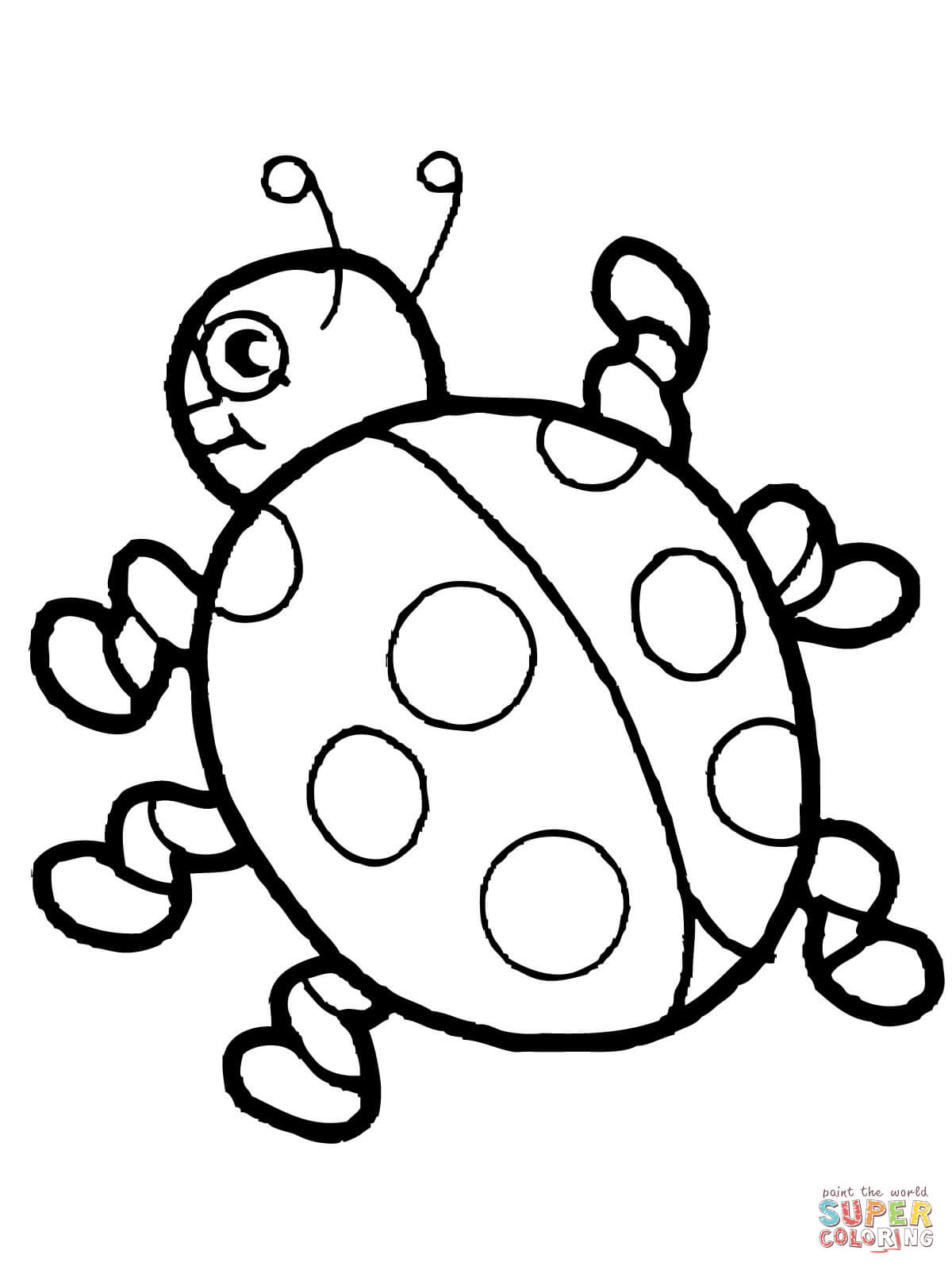 Cute Ladybug Coloring Page Free Printable Coloring Pages