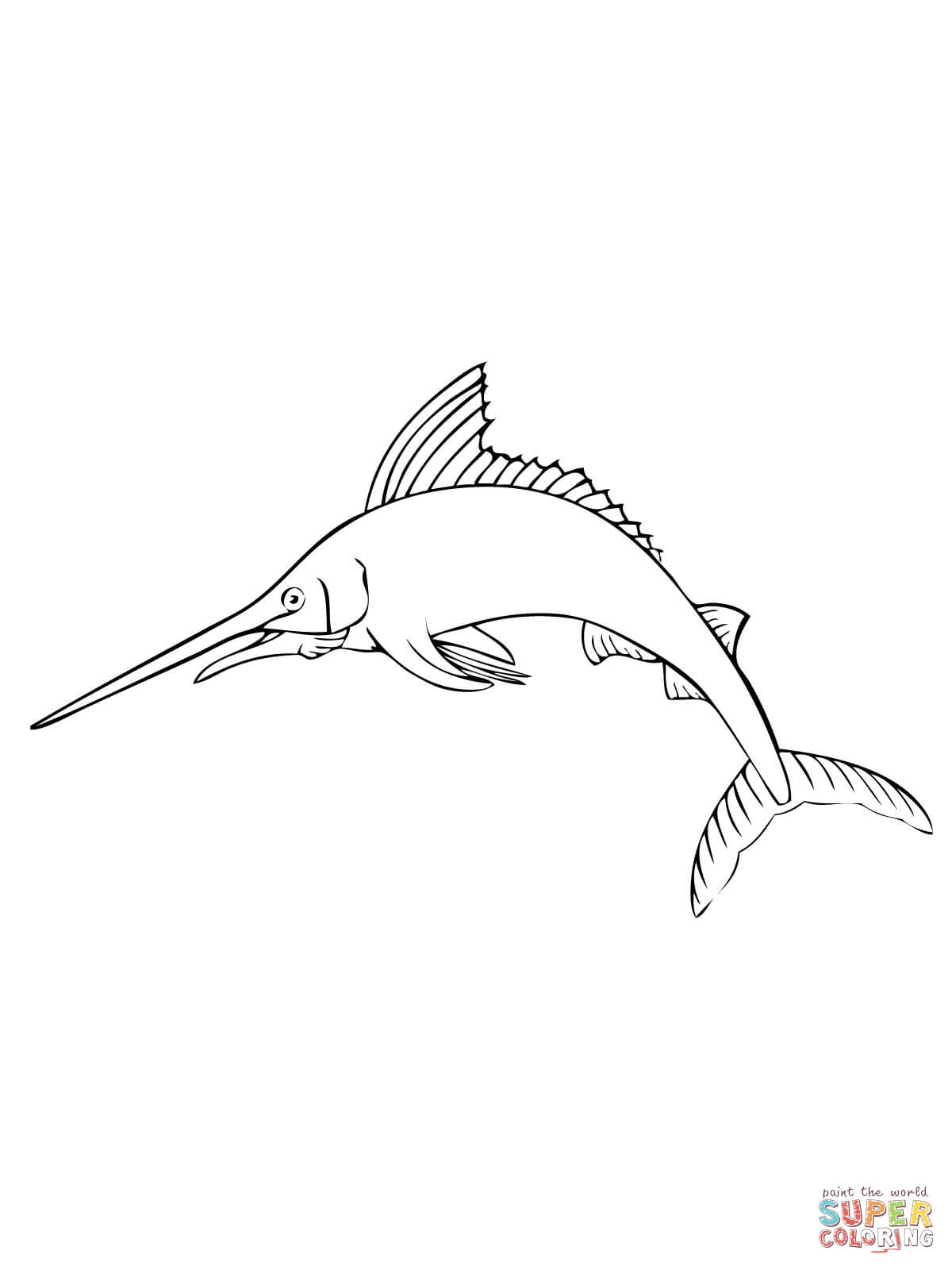 Atlantic Blue Marlin Coloring Page Free Printable Coloring Pages