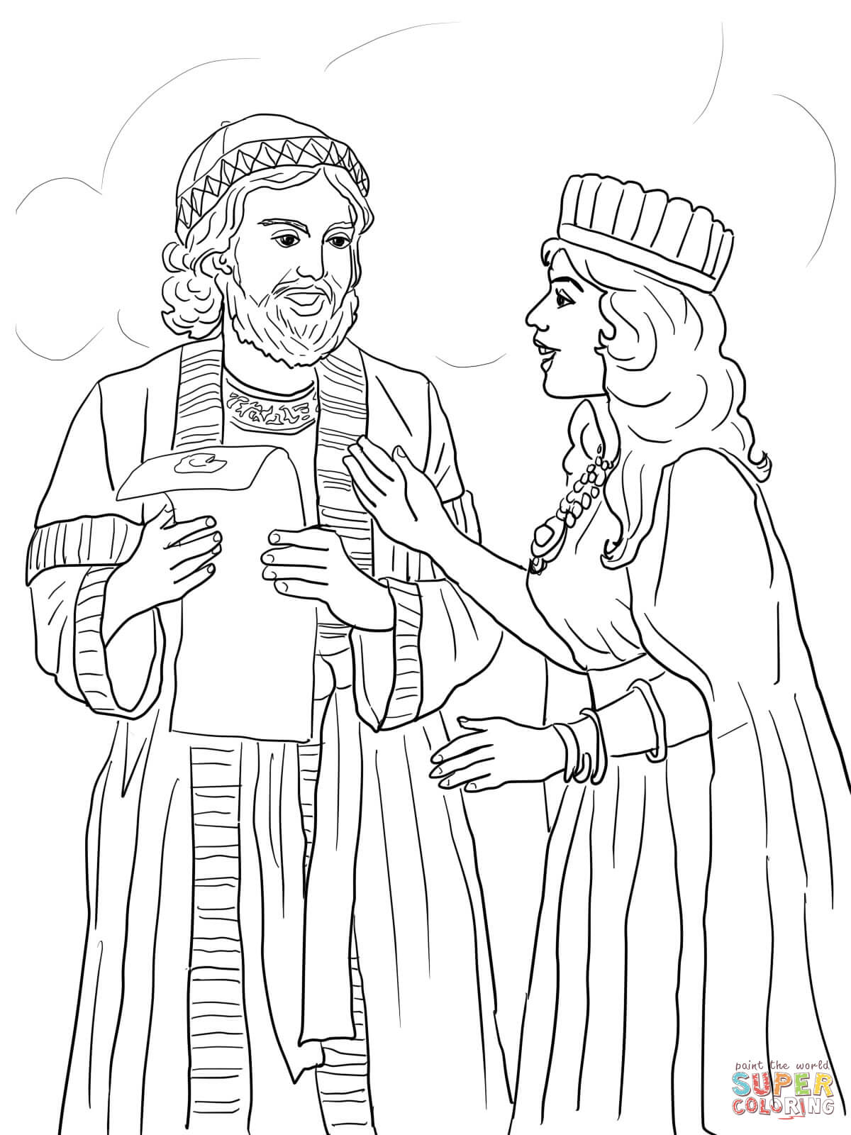 Queen Esther Coloring Pages Free Coloring Pages