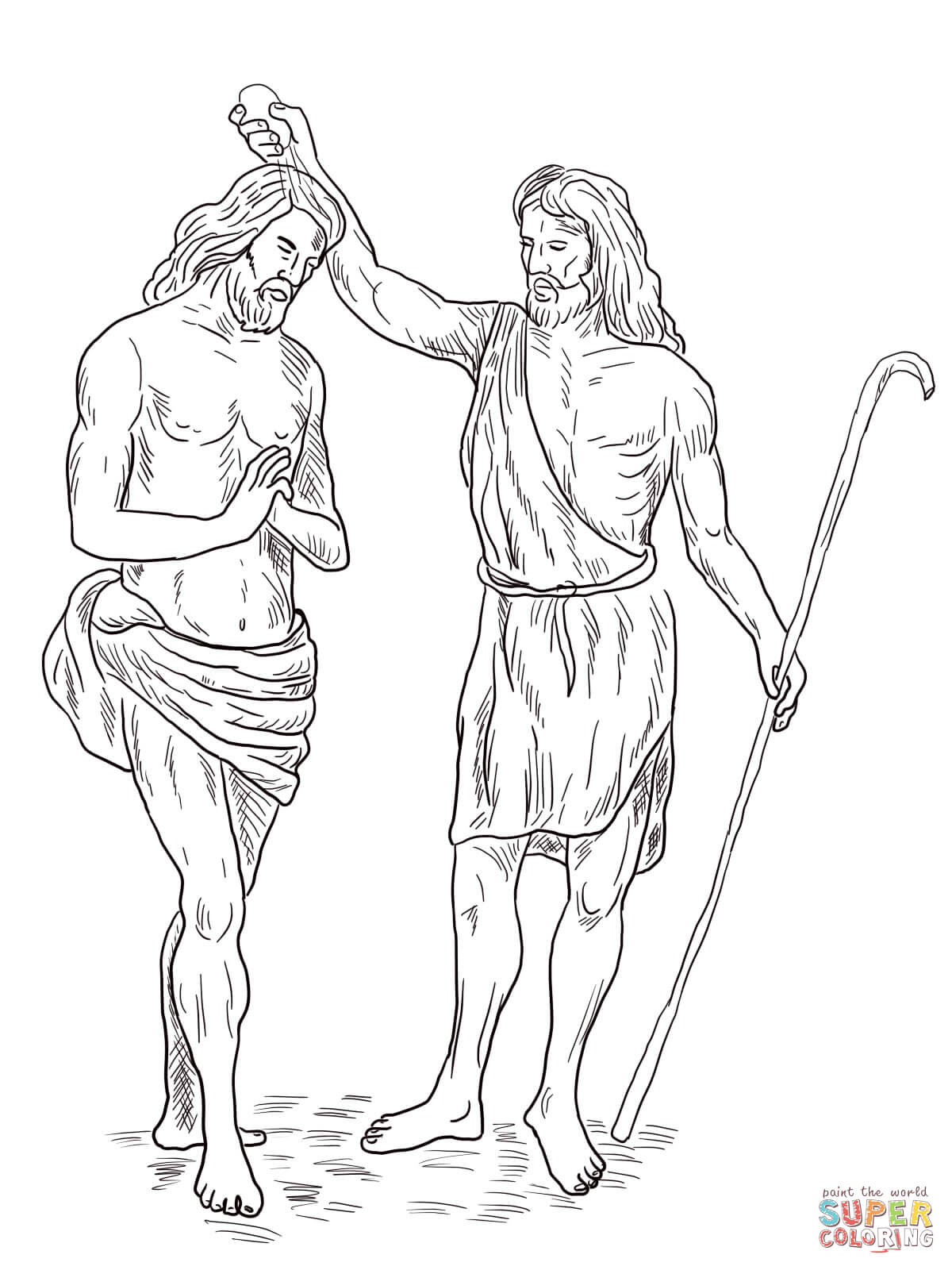Jesus Baptism Coloring Page Free Coloring Pages Download | Xsibe ...