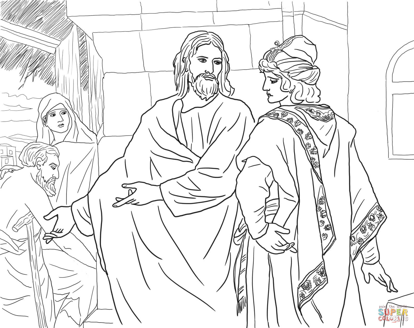 The Rich Young Ruler Coloring Page Free Coloring Pages For The