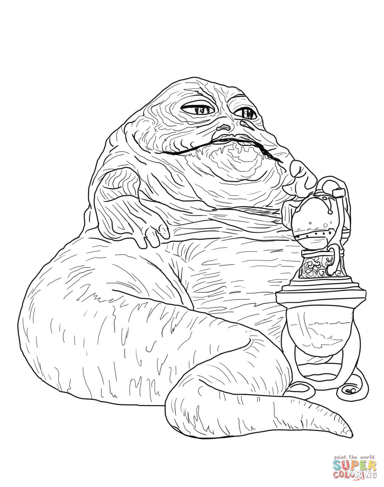 Jabba The Hutt Coloring Page Free Printable Coloring Pages