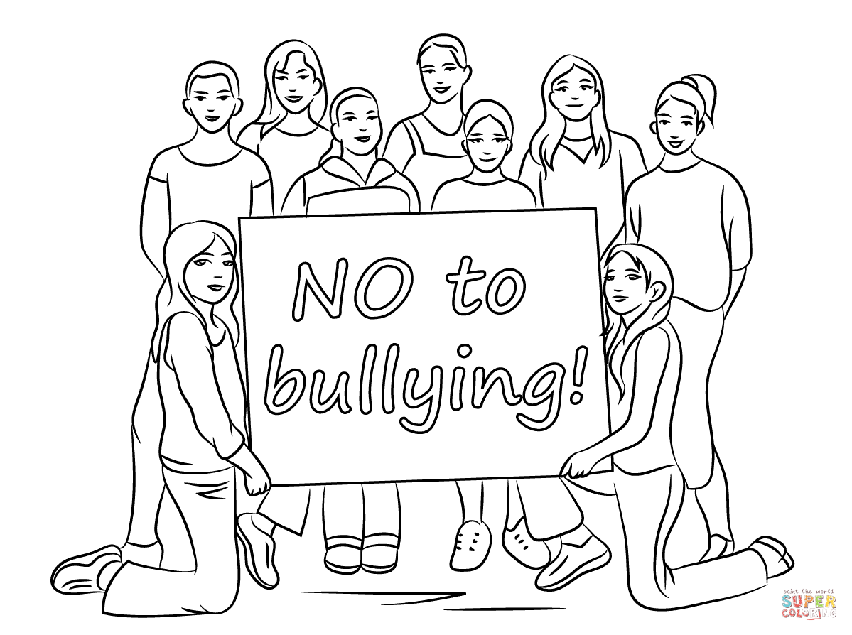 Anti Bullying Coloring Pages Free Coloring Pages