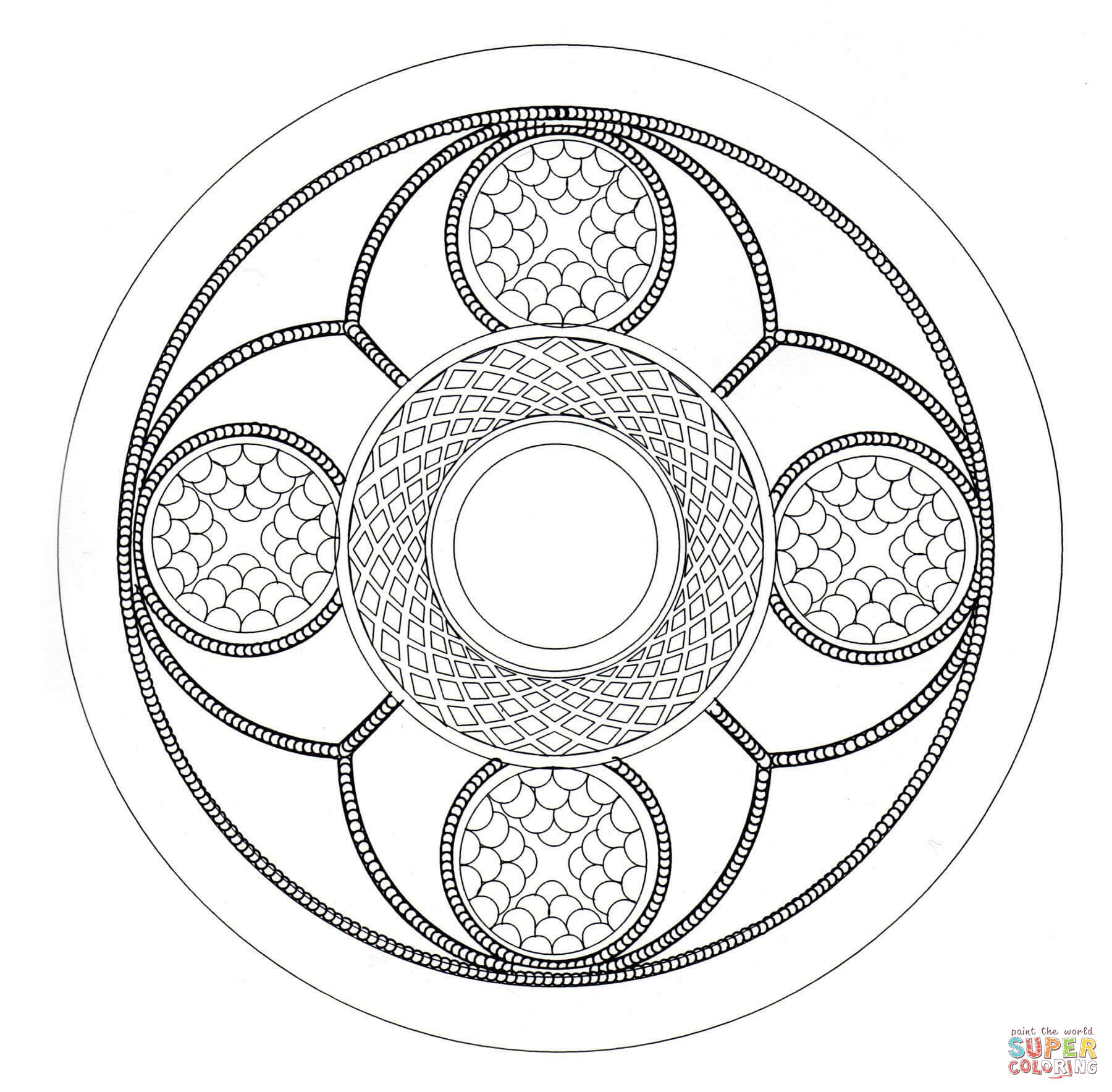 Celtic Mandala Coloring Page Free Printable Pages