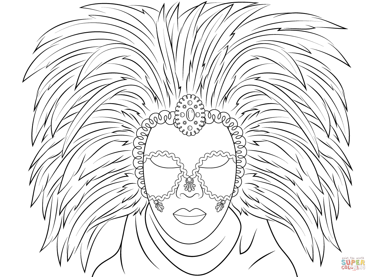 African Animal Masks Coloring Page Free Coloring Pages Download ...