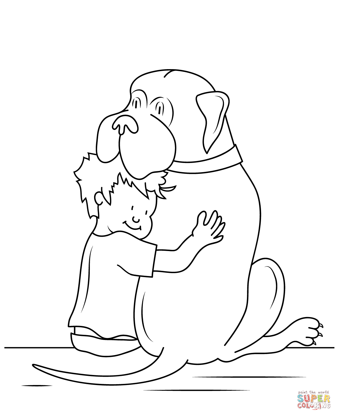 Henry And Mudge Coloring Page Free Printable Coloring Pages