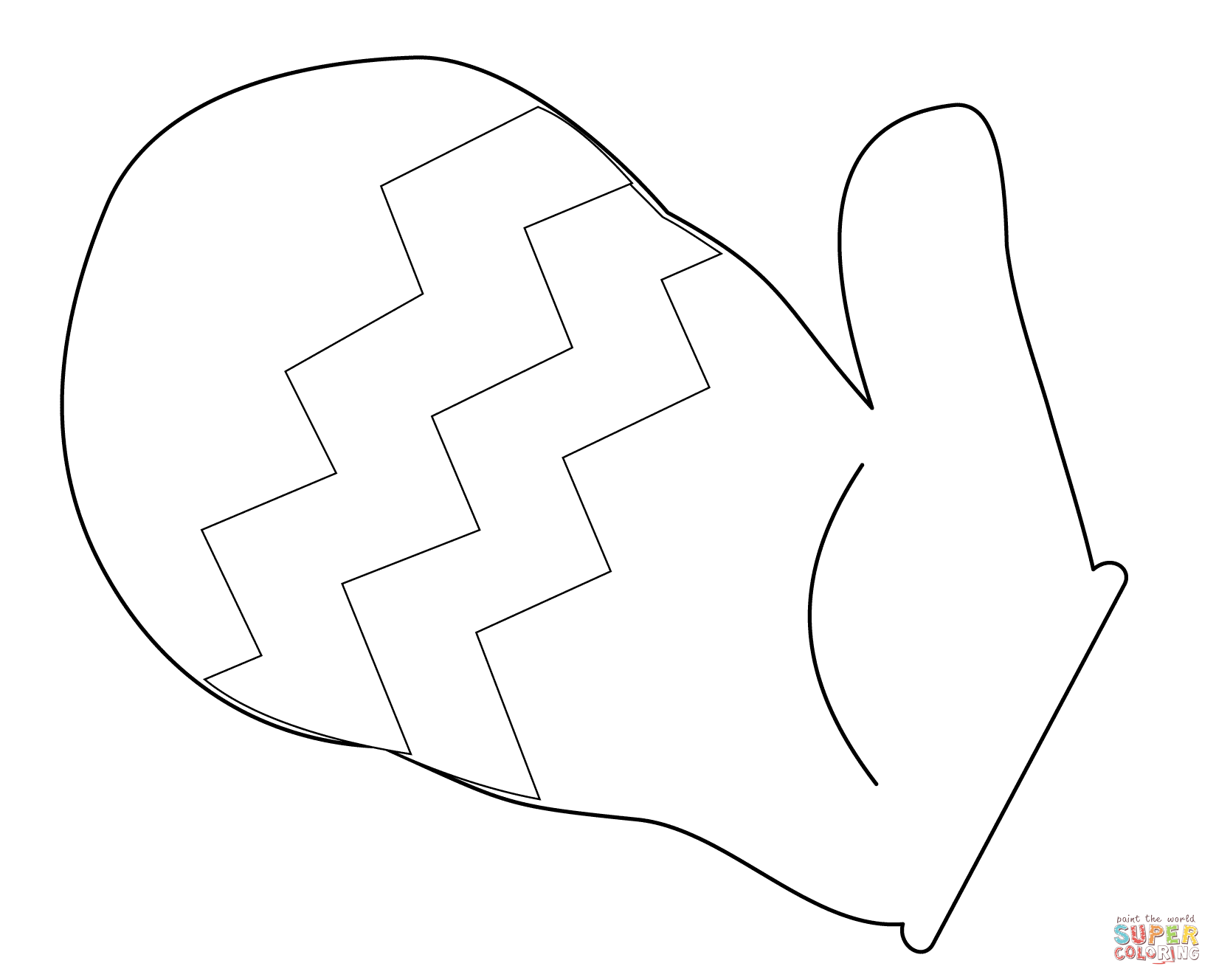 Mitten Coloring Page Free Printable Coloring Pages