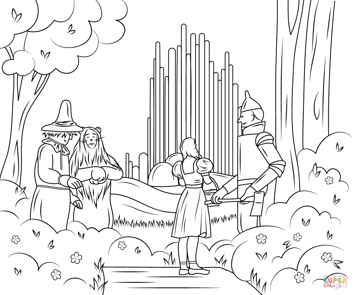 Wizard Of Oz Emerald City Coloring Page Free Printable Coloring