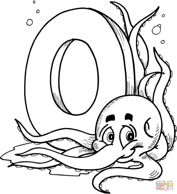 letter o coloring pages # 16