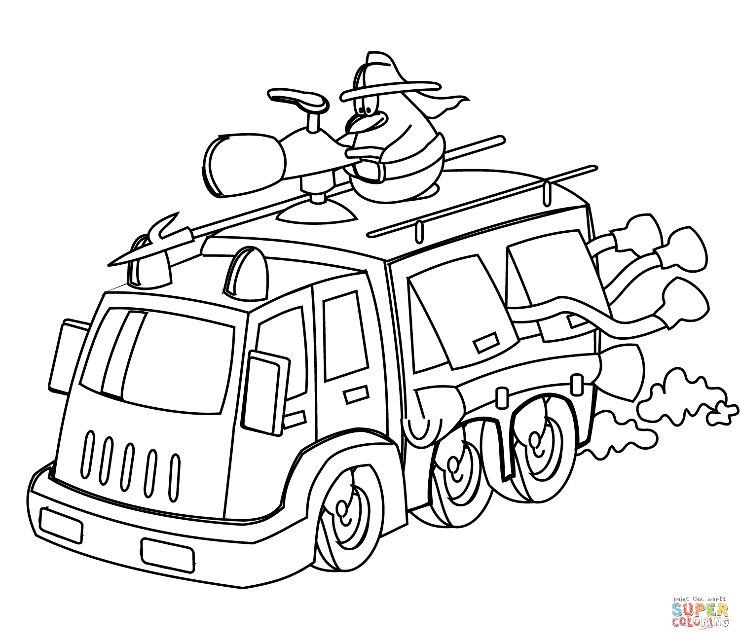 Rescue Vehicles Coloring Pages Free Coloring Pages