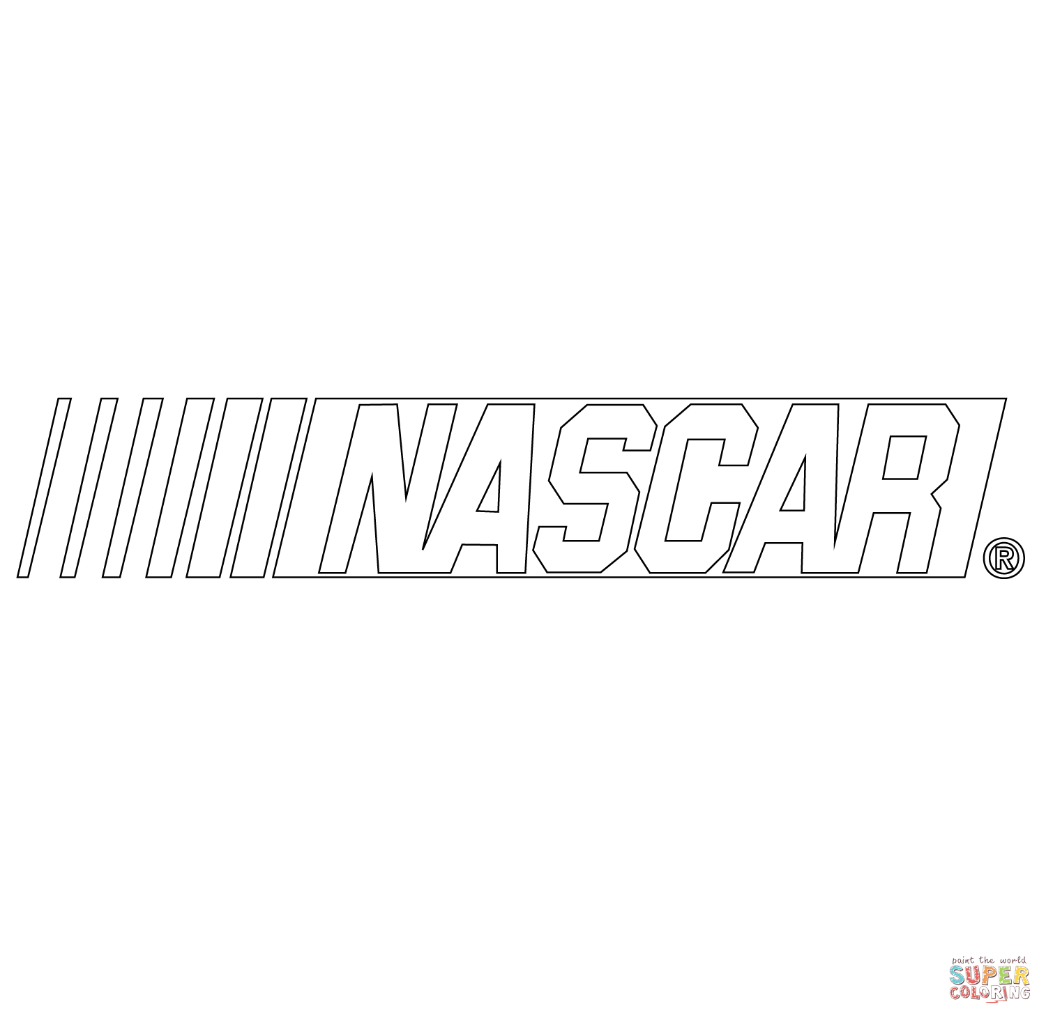 Nascar Logo Coloring Page Free Printable Coloring Pages