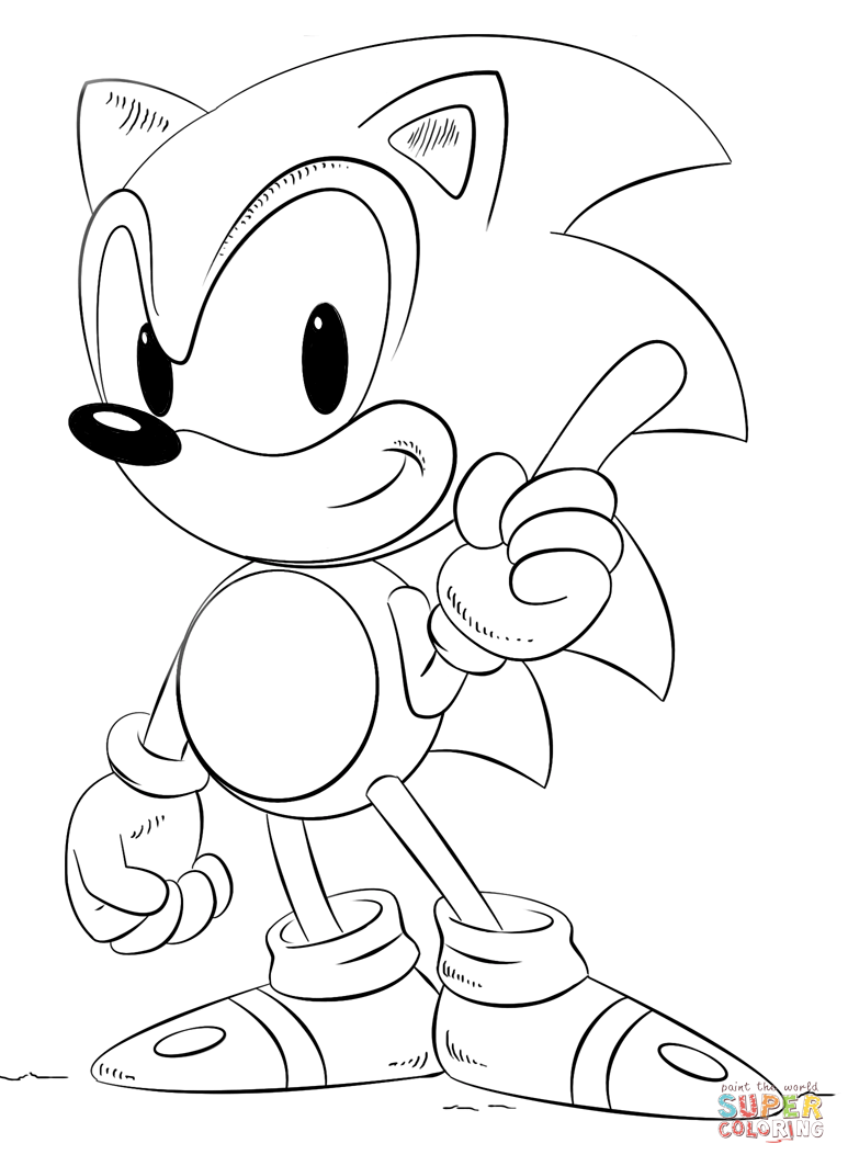 Sonic Coloring Page Free Printable Coloring Pages
