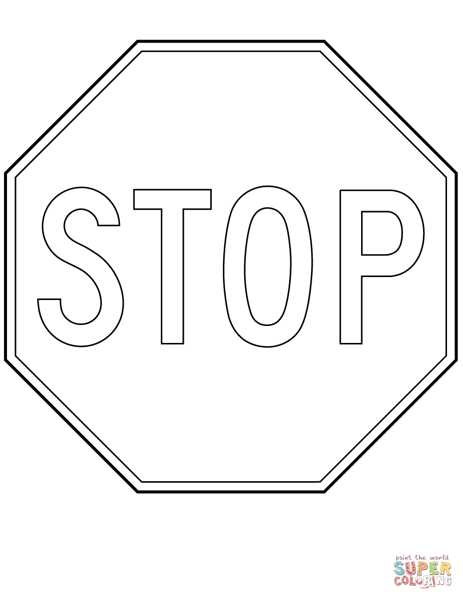 Stop Sign In Quebec P 010 Coloring Page Free Printable Coloring