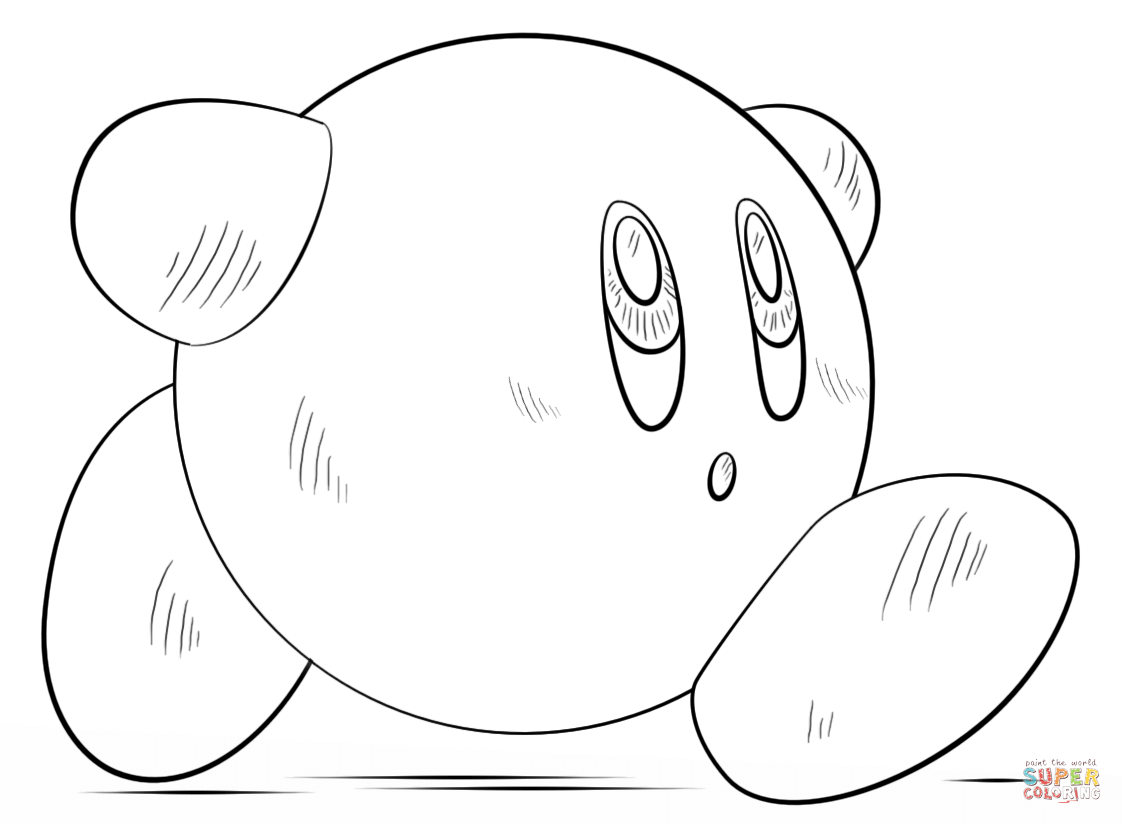 Kirby Coloring Page Free Printable Coloring Pages