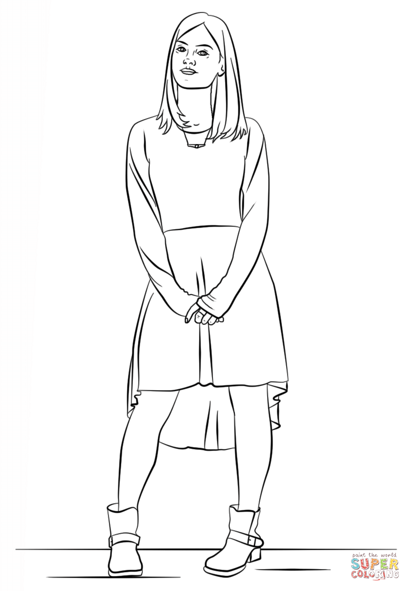 Clara Doctor Who Coloring Pages