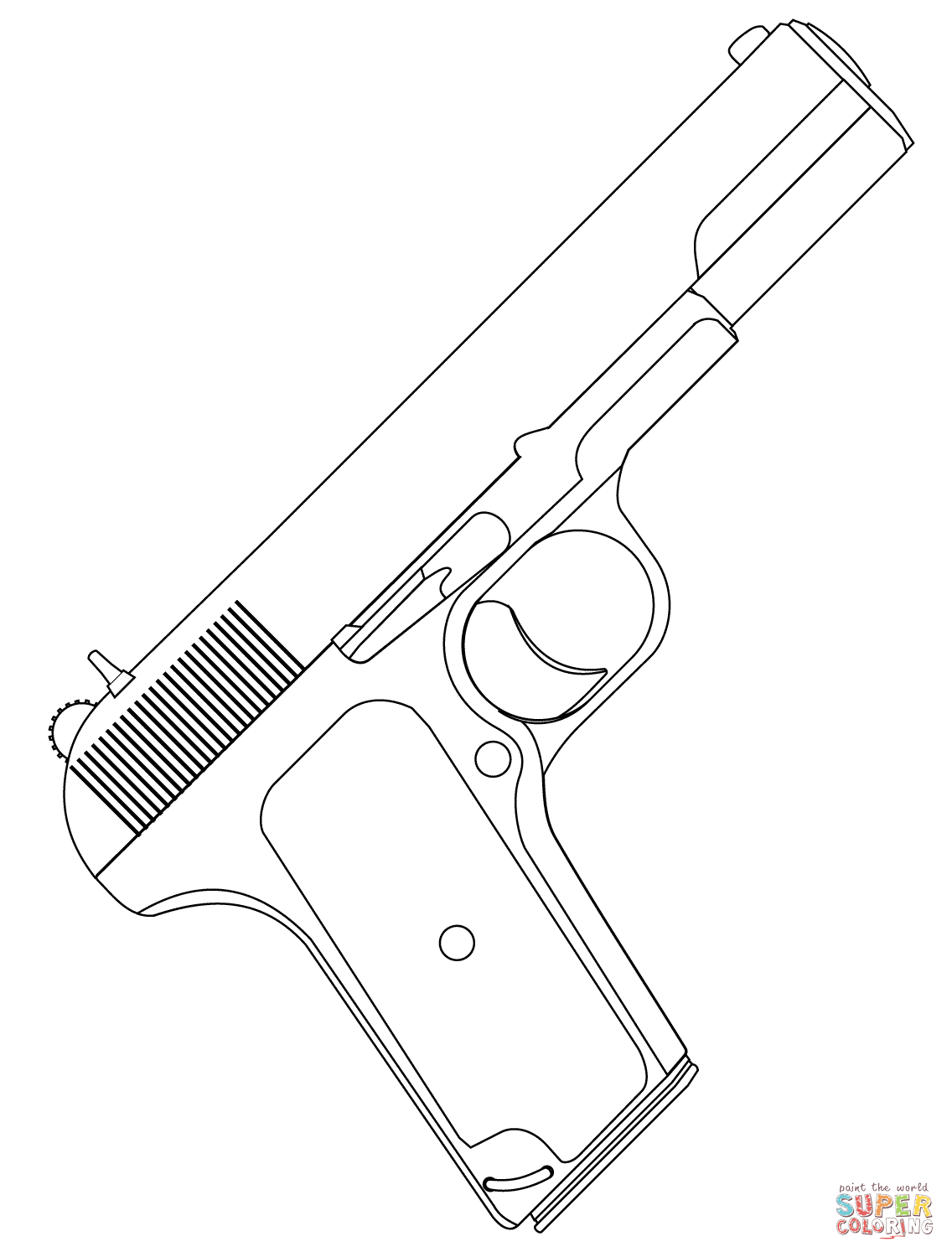 Handgun Coloring Page Free Printable Coloring Pages
