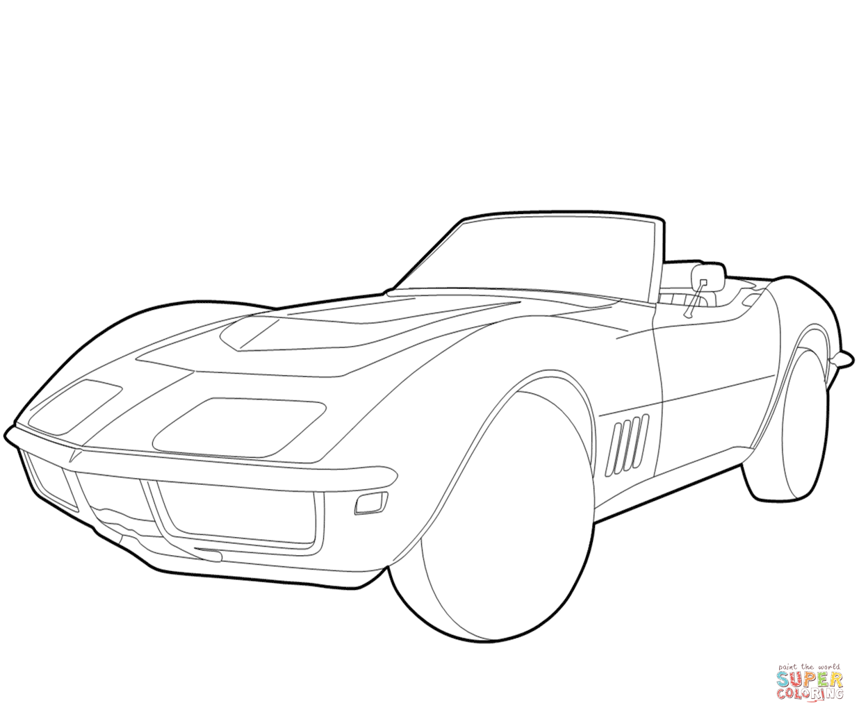 chevy camaro coloring pages Chevrolet Corvette