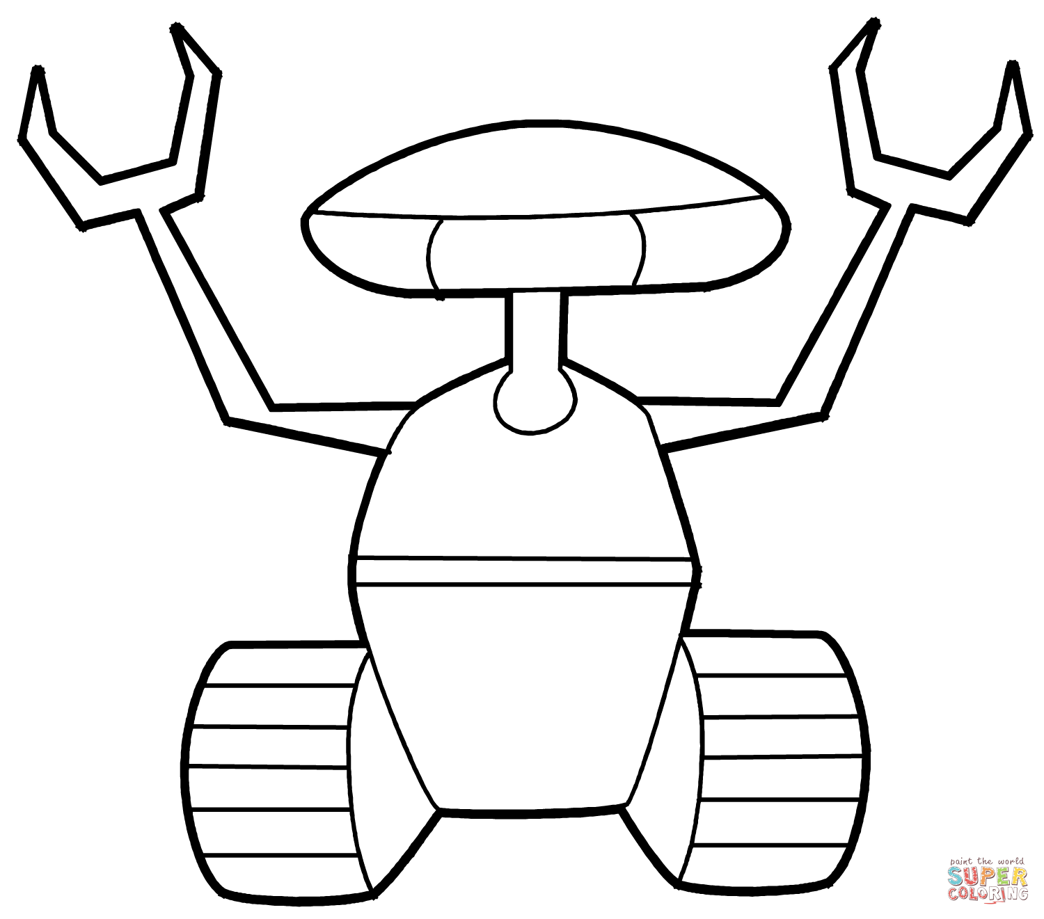 Robots Coloring Pages Free Coloring Pages