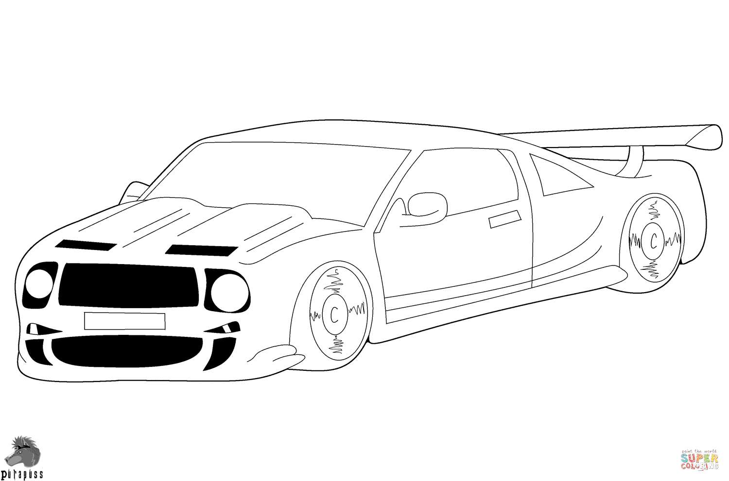 Race Car Coloring Page Free Printable Coloring Pages