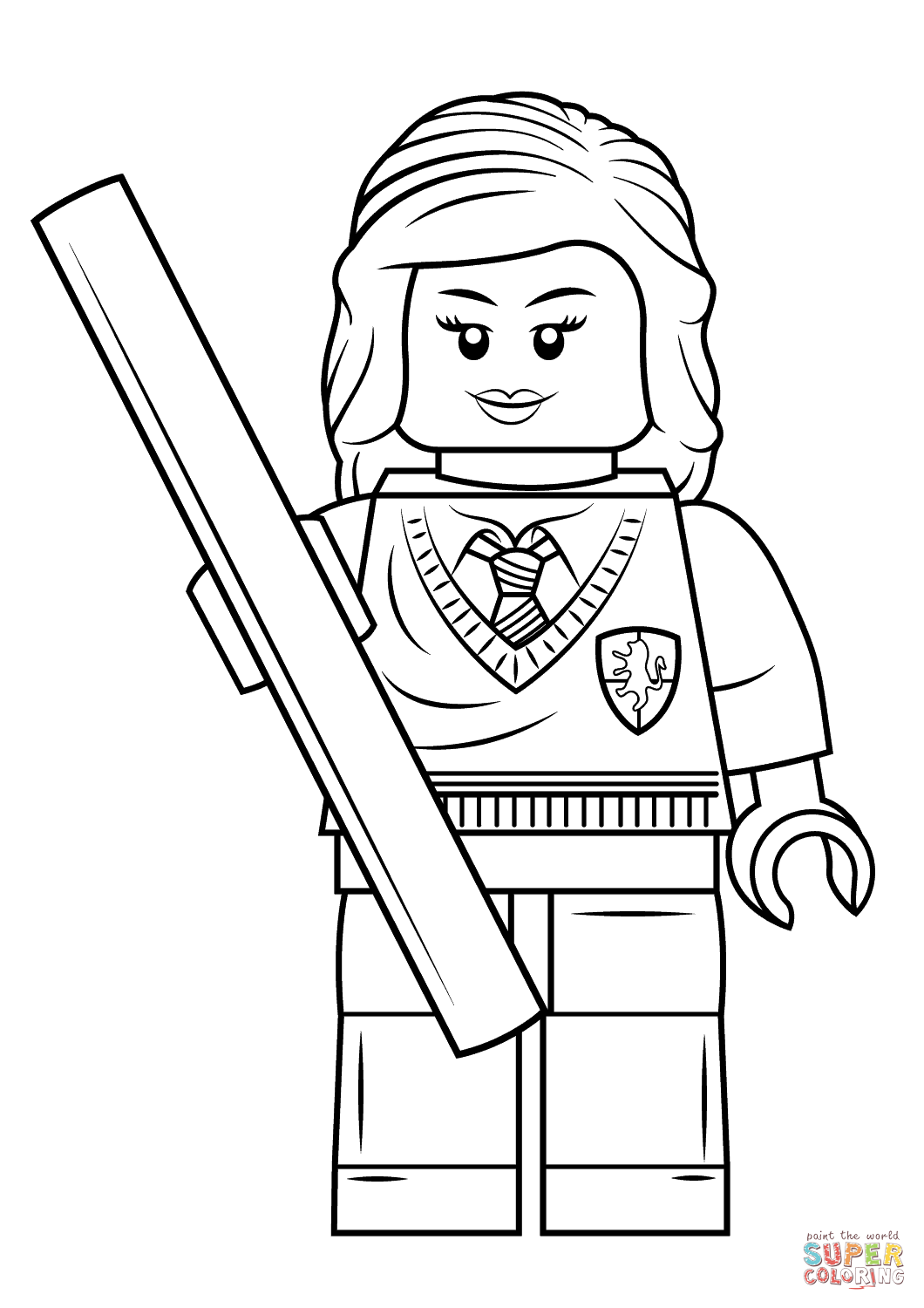 Lego Hermione Granger Coloring Page Free Printable Coloring Pages