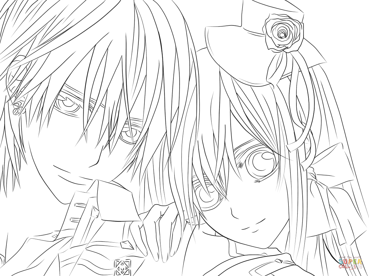 Yuki Zero From V Ire Knight Coloring Page Free Printable