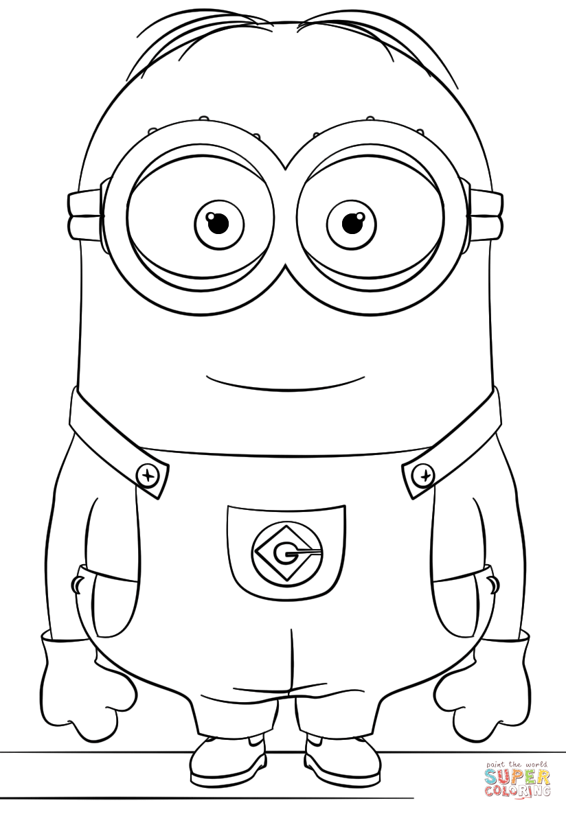 Minion Dave Coloring Page Free Printable Coloring Pages