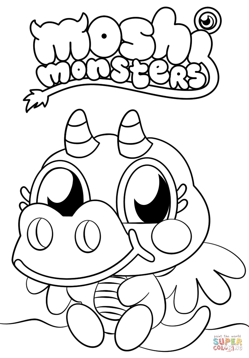 Moshi Monsters Coloring Pages Free Coloring Pages Download | Xsibe ...