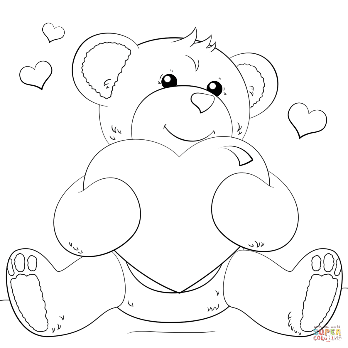 Hearts Coloring Pages Free Coloring Pages