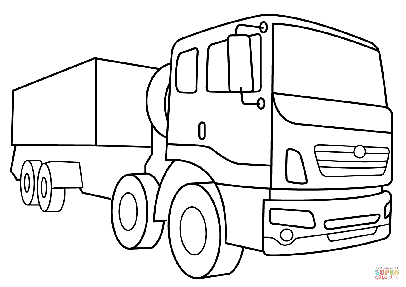 Military Supply Vehicle Coloring Page Free Printable Coloring Pages