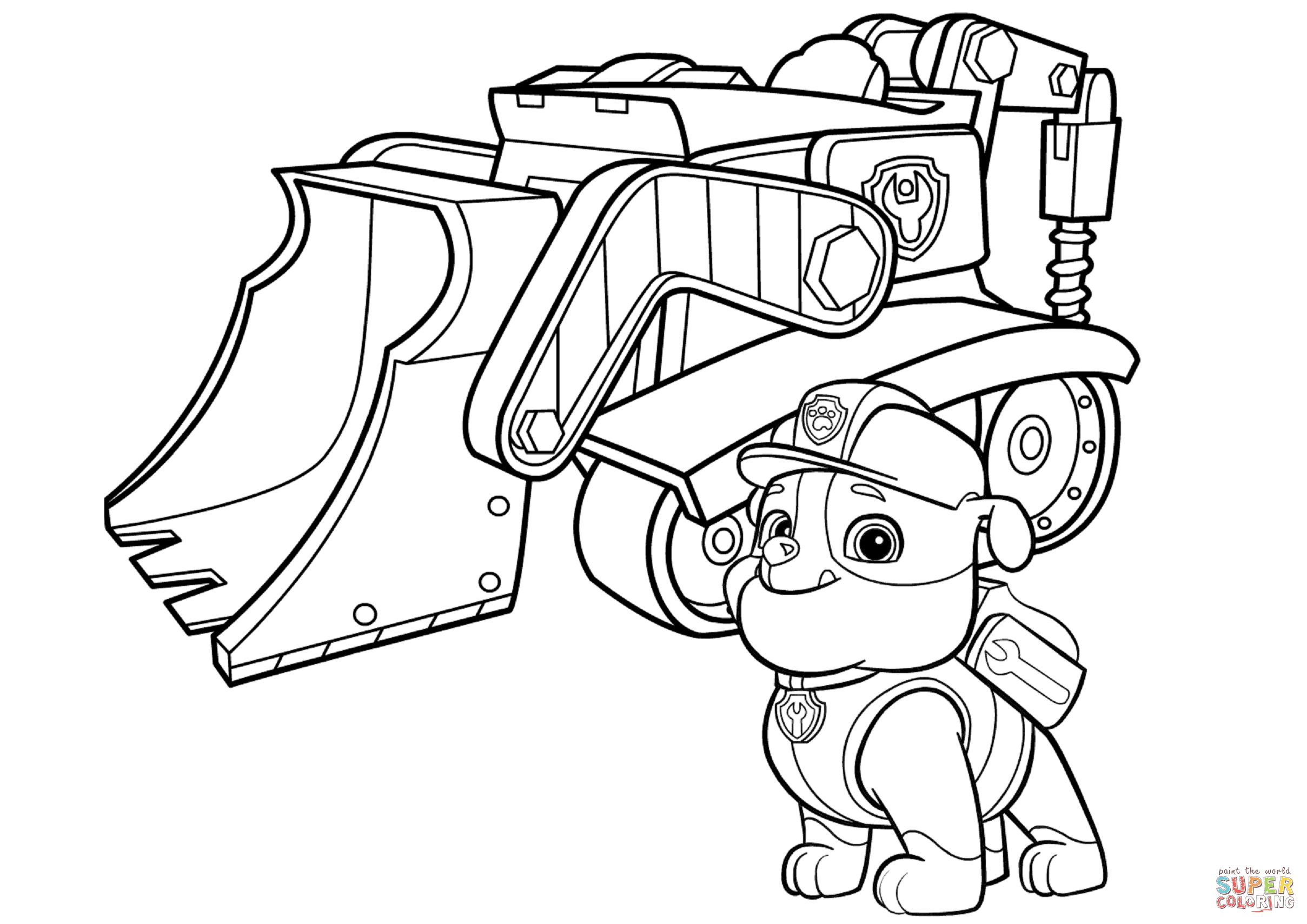 Bulldozer Coloring Pages Coloring Page For Kids