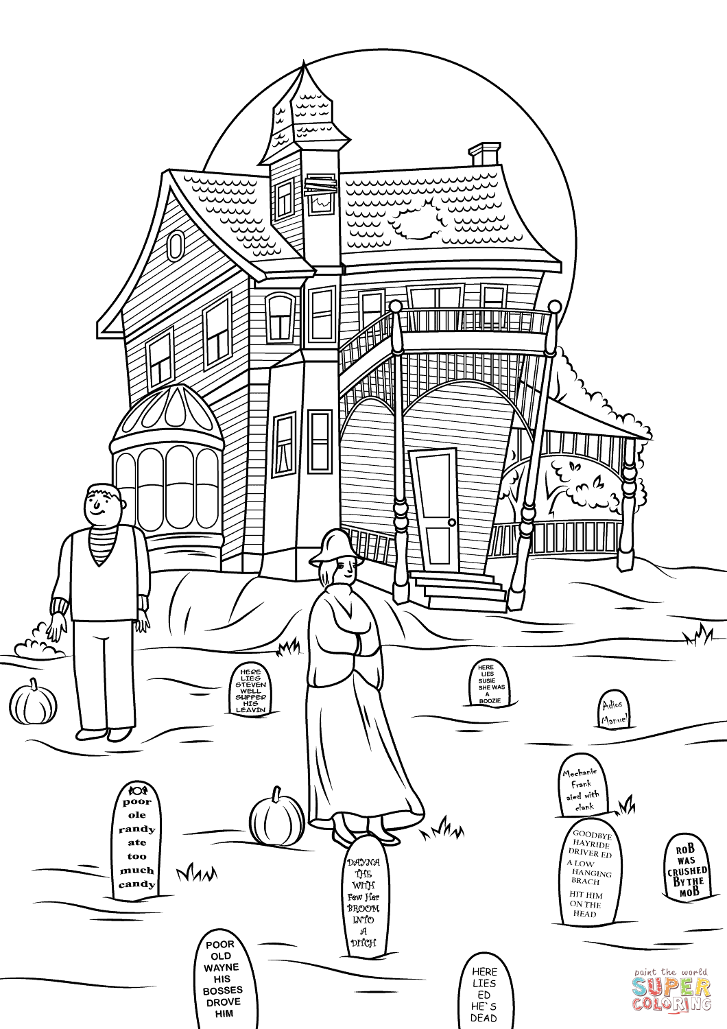 Spooky Haunted House Photo By Jon Seidman Coloring Page Free