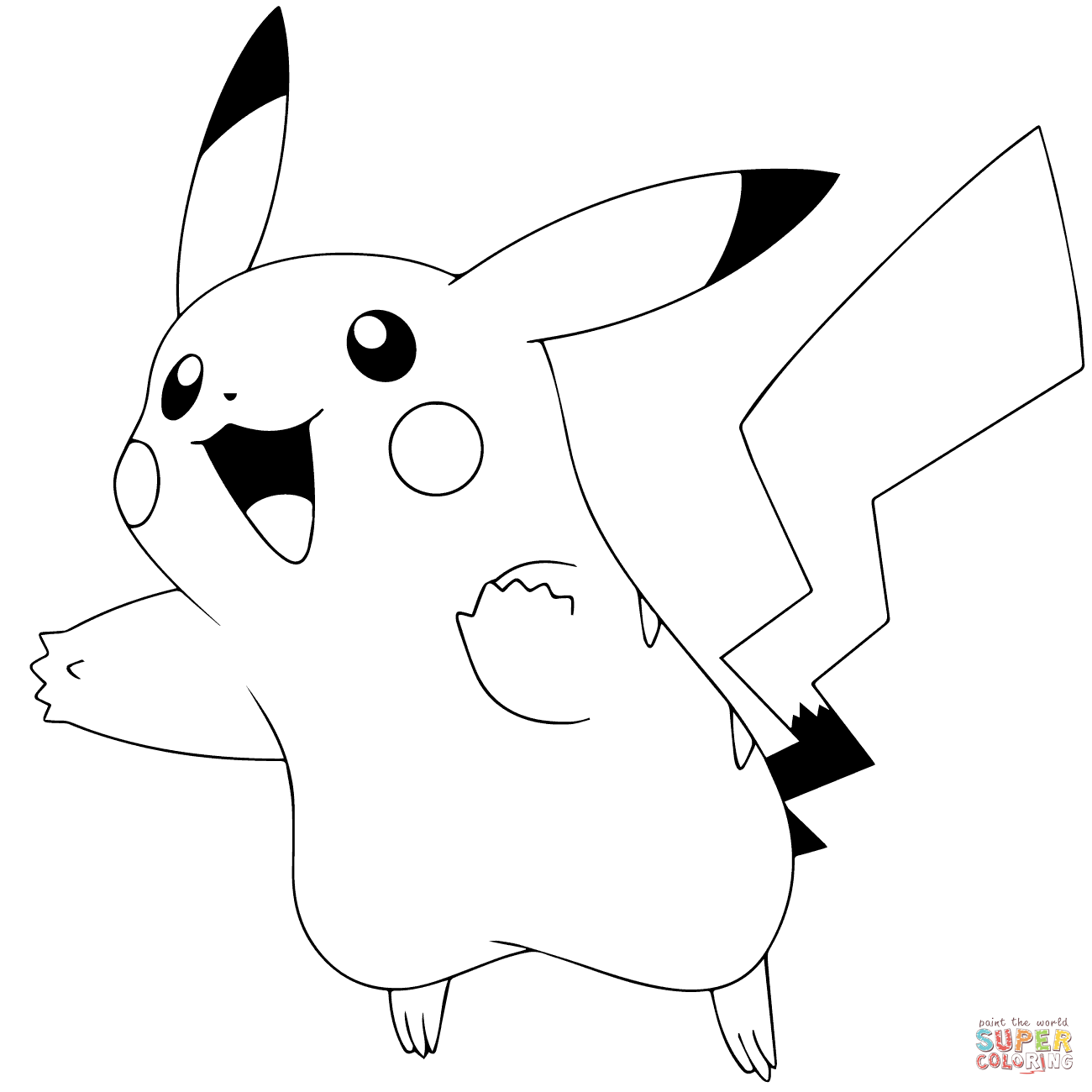 Pokémon Go Pikachu 025 Coloring Page Free Printable Coloring Pages