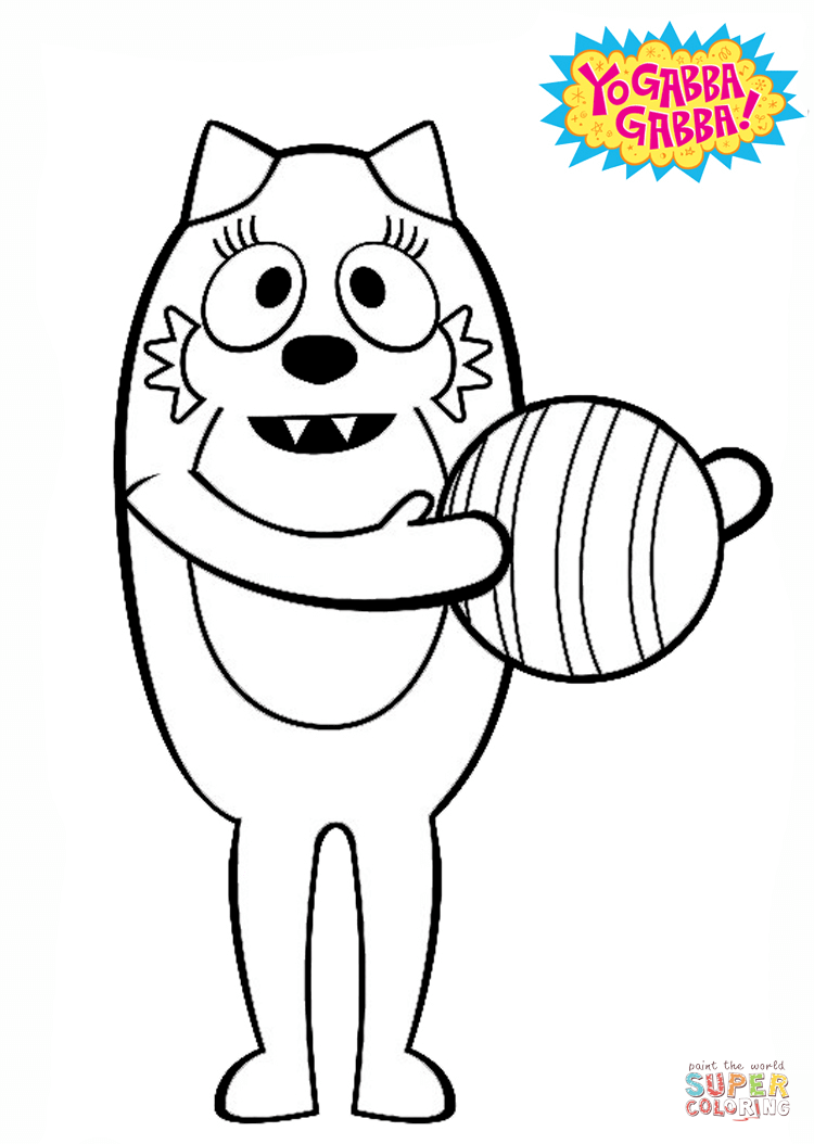 Toodee With Ball Coloring Page Free Printable Coloring Pages