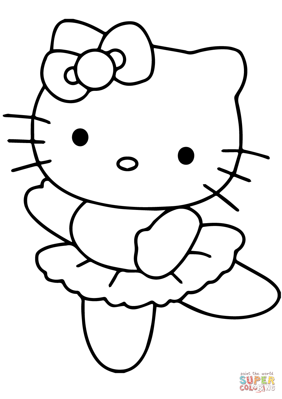 Hello Kitty Ballerina Coloring Page Free Printable Coloring Pages