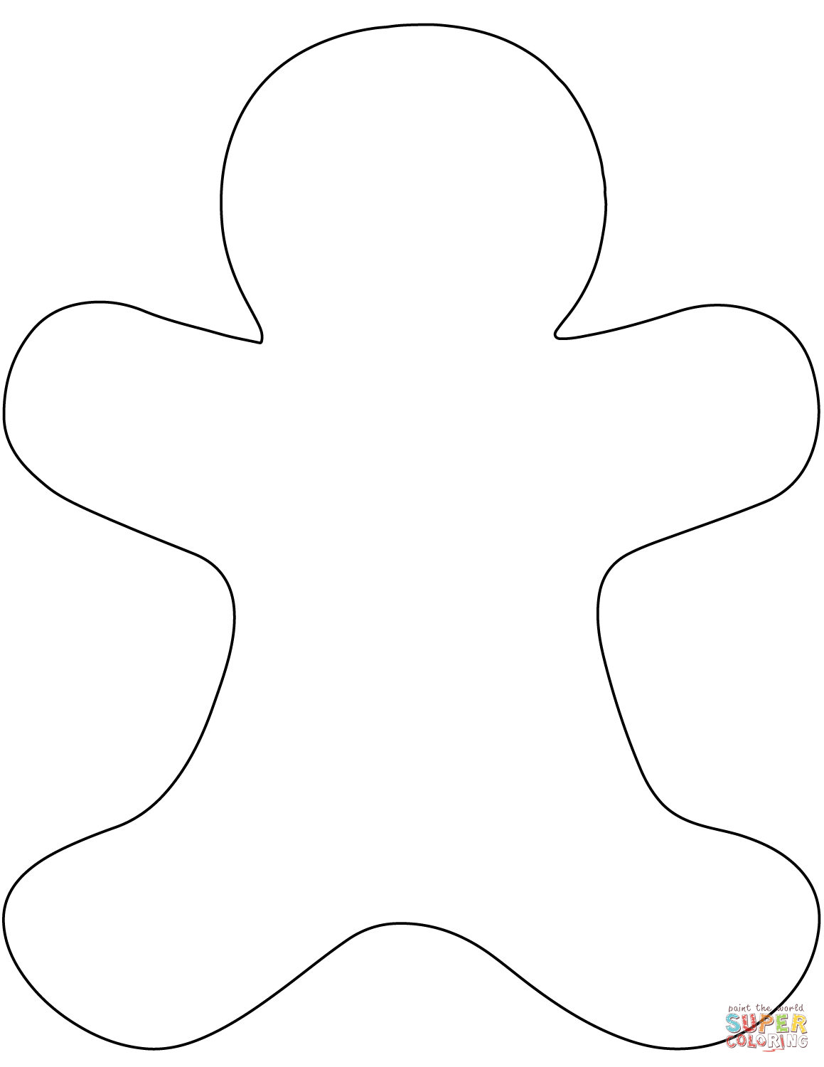Blank Gingerbread Man Coloring Page Free Printable Coloring Pages