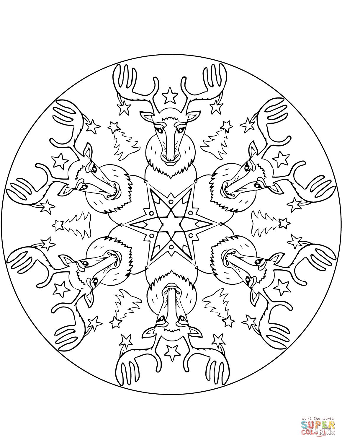 Christmas Mandalas Coloring Pages Free Coloring Pages