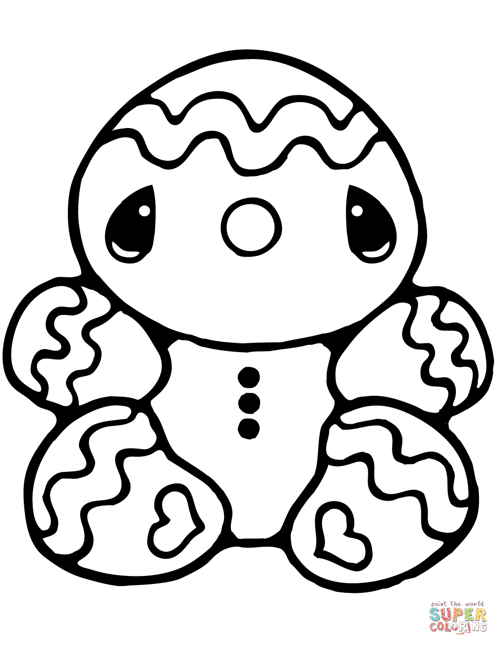Tiny Gingerbread Man coloring page | Free Printable ...