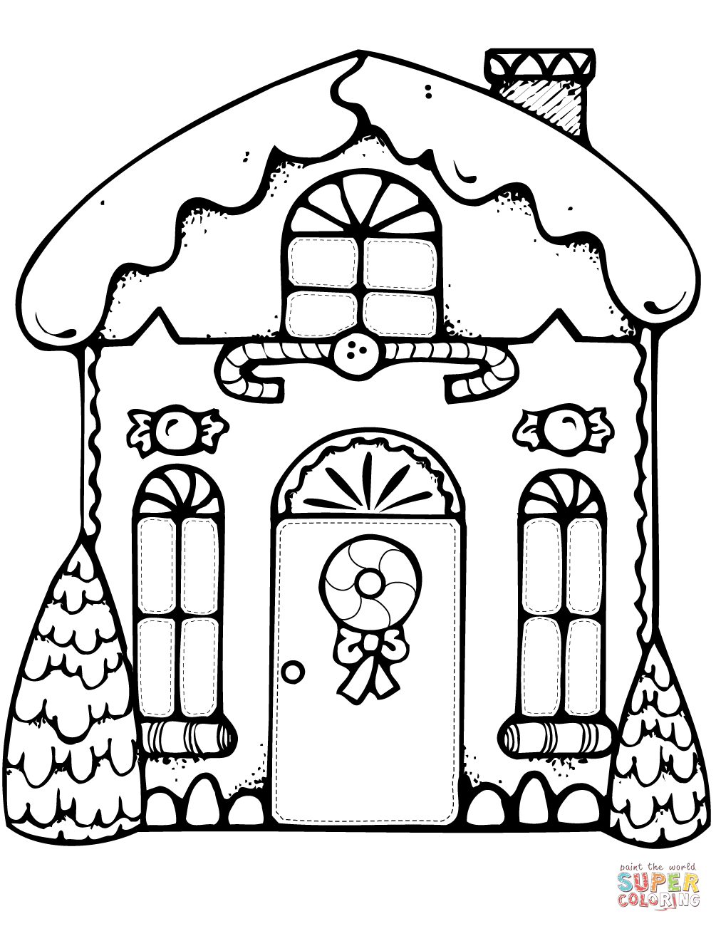 House Coloring Pages Aradio