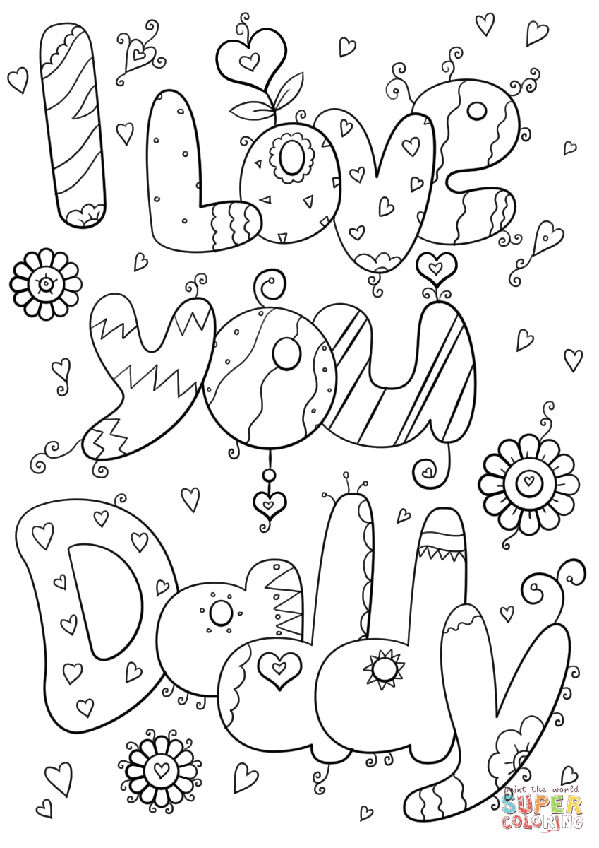 I love you daddy coloring page free printable coloring pages, love you coloring pages