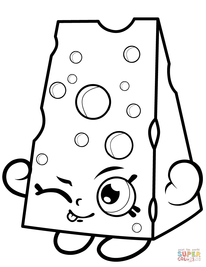 Chee Zee Shopkin Coloring Page Free Printable Coloring Pages
