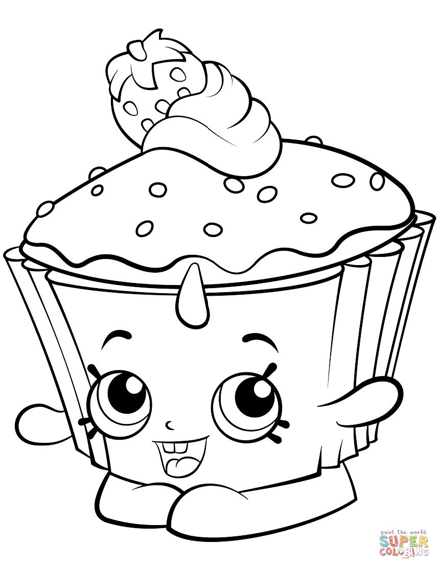 Cupcake Chic Shopkin Coloring Page Free Printable Coloring Pages