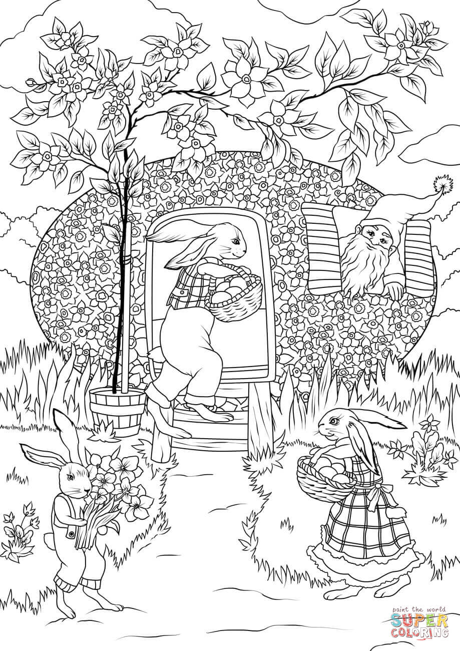 Vintage Easter Coloring Pages