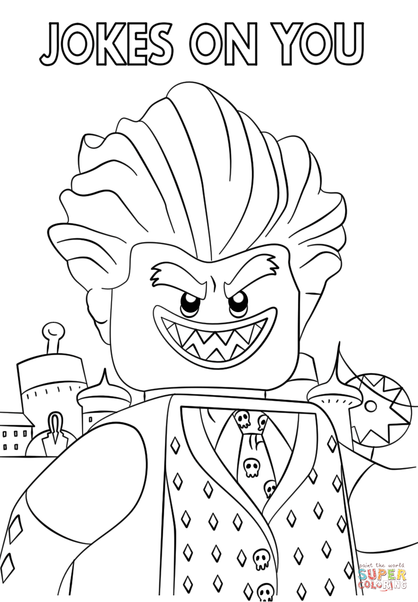 Jocker From The Lego Batman Movie Coloring Page Free Printable
