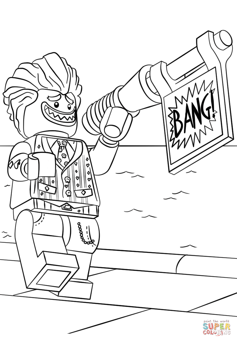 Lego The Joker Coloring Page Free Printable Coloring Pages