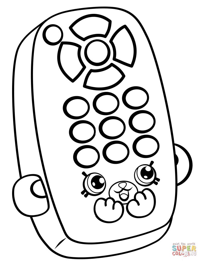 Rita Remote Pe Ins Shopkin Coloring Page Free Printable