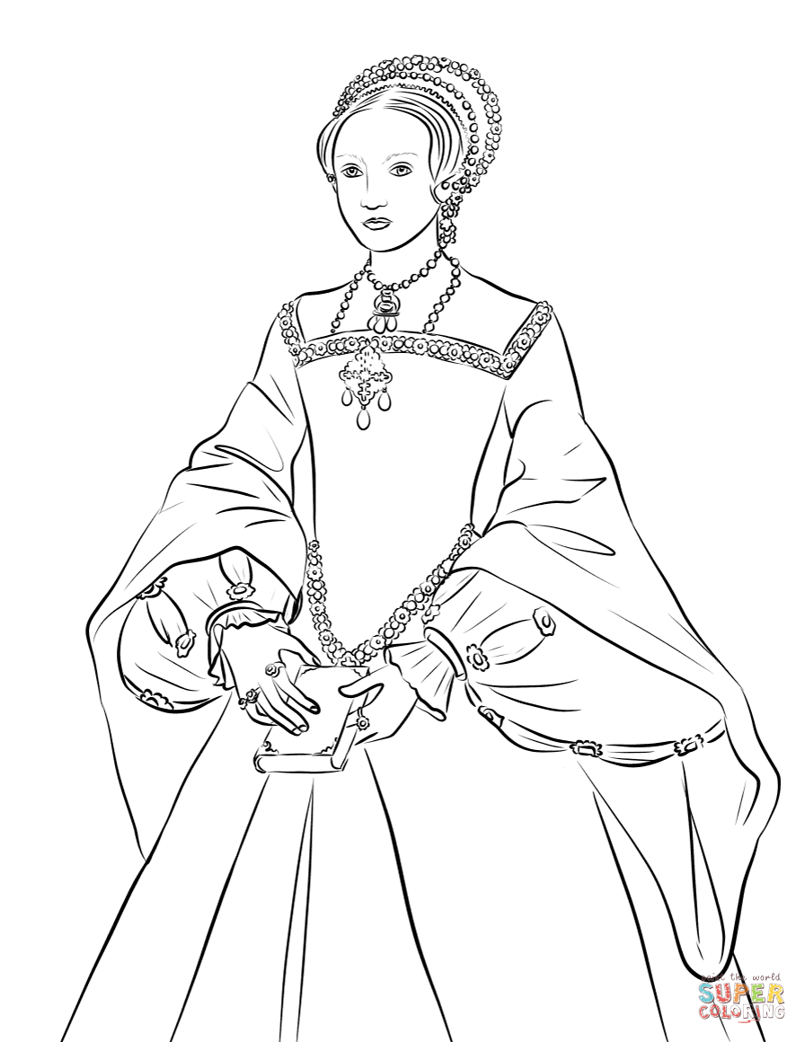 Queen Elizabeth I Coloring Page Free Printable Coloring Pages