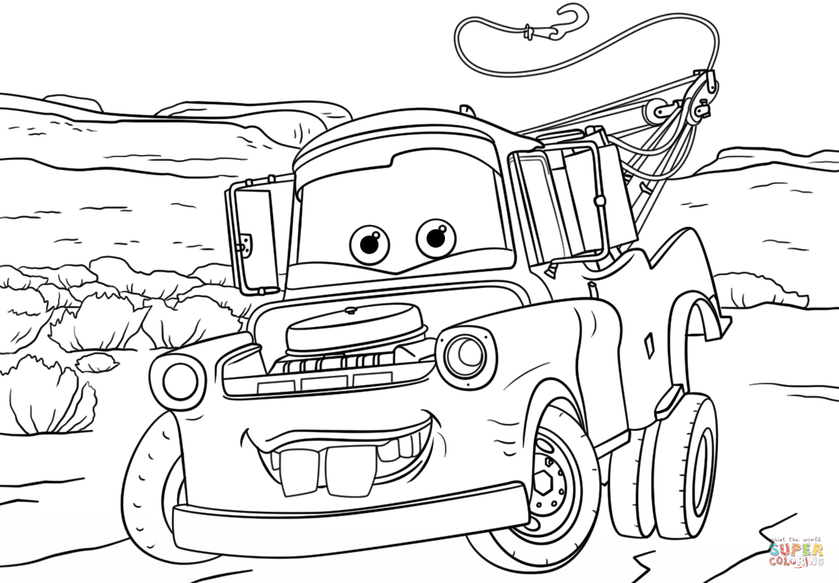 Mater Coloring Pages To Print Cars 2 Francesco Coloring Pages