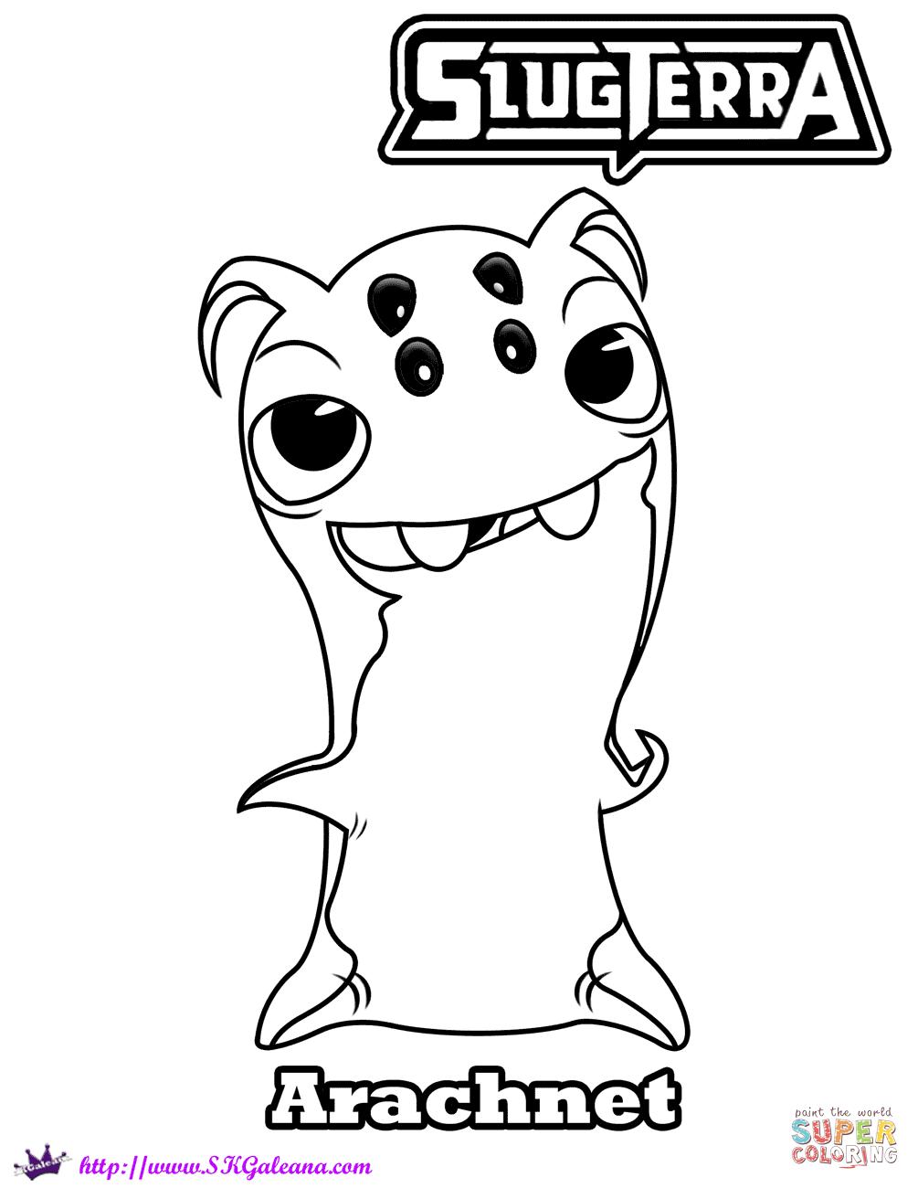 Arach Slug Coloring Page Free Printable Coloring Pages