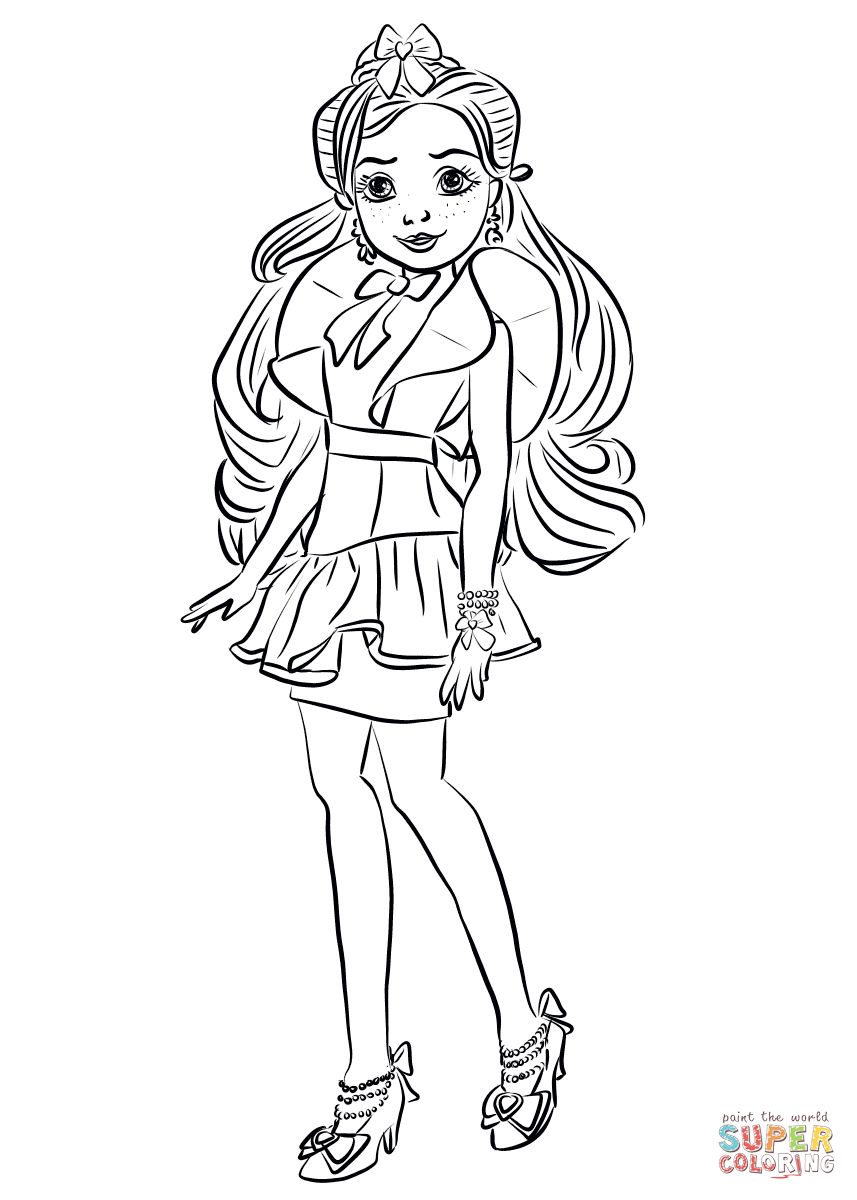 Jane From Descendants Wicked World Coloring Page Free Printable